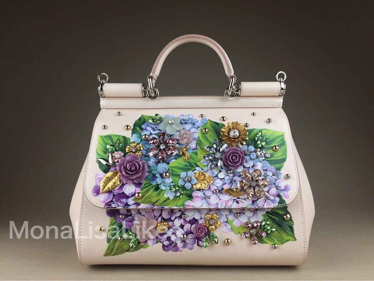 DOLCE & GABBANA Miss Sicily Hydrangea Embellished bag