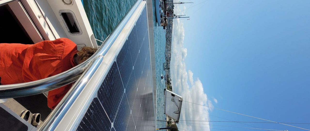 The bifacial LG Neon2 Panels soaking up the rays in Falmouth