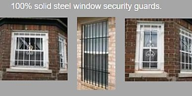 Window Guards. Fix and Mounted, 100% Solid Steel