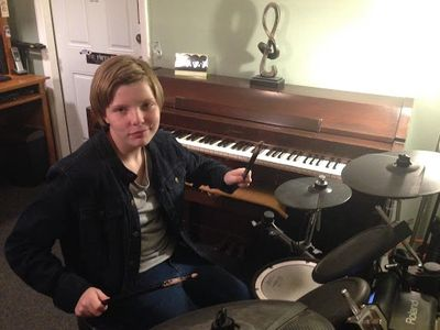 Kids love drumming! Amanda age 13