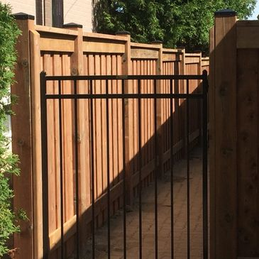 Custom metal gate designs and sizes  available.