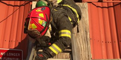 ladder work, VES, VEIS, can job, firefighter training, fireman training. SCBA