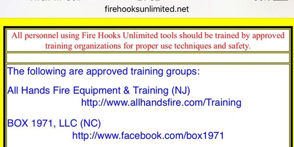 fire hooks unlimited, bob Farrell, fdny, Halligan, roof hook, forcible entry, box 1971. fireman