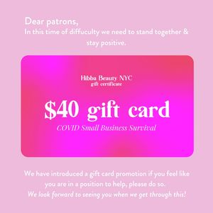 COVID 19 SUPPORT GIFT CARD FOR HIBBA BEAUTY EMPLOYEES