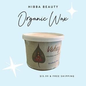 Hibba Beauty Organic Azulene Wax for at home hair removal.