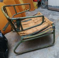 restoration of djinn chair by Olivier Mourgue