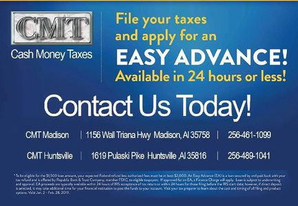 cmt madison 1156 wall triana, madison, alabama, 1619, pulaski, pike, huntsville, easy advance, cash,