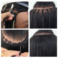 Use Curvy Betty on thick hair for safe & perfect braidless  applications.