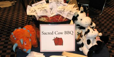 Sacred cow BBQ. an opportunity to figuratively retire programs, publications, or history.