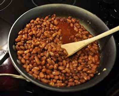 Soaked Northern Beans made into Modern Day Baked Beans! No animal products here!