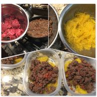 Ground beef, Spaghetti Squash, Keto, Low Carb, Paleo