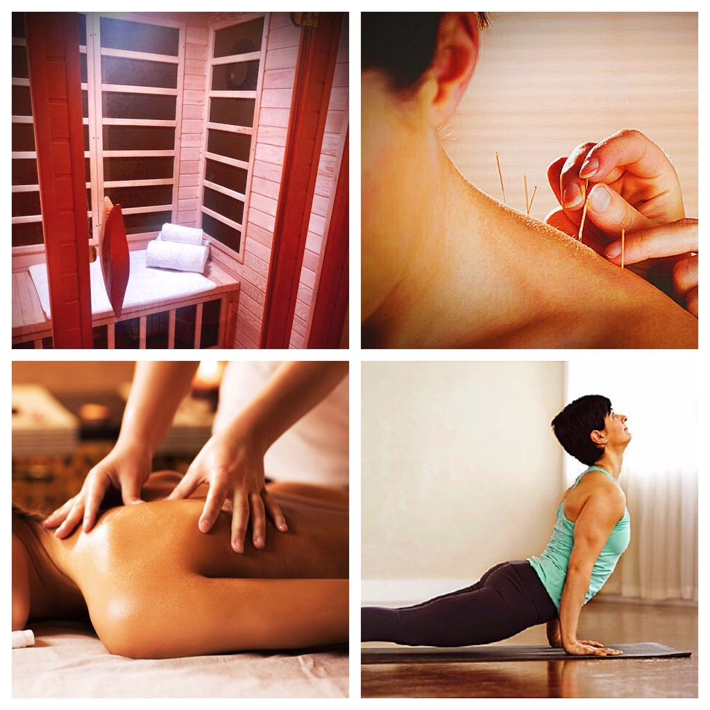 Massage Therapeutic massage acupuncture infrared sauna stretch therapy cupping yoga deep tissue