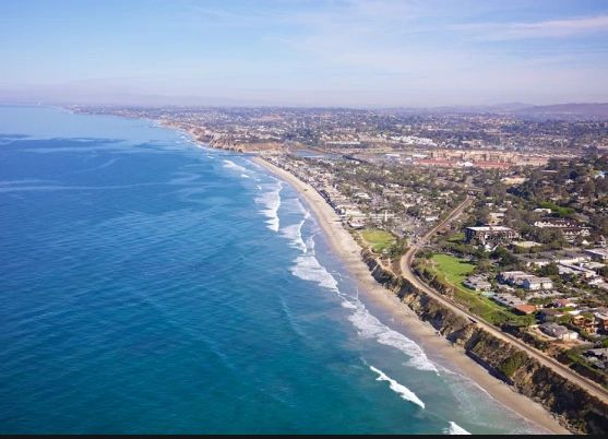 Del Mar from the air, Waverider Helicopter Tours