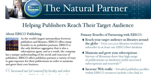 EBSCO commitment to its publishing partners. Links to obscene material are maintained.