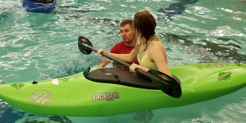 Learn to roll a kayak in the ideal setting of an indoor pool in Golden, Colorado.