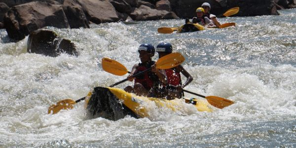 Inflatable and sit on top kayaking in the Front Range and on the Colorado River.