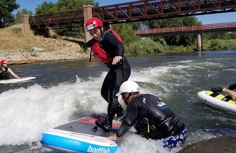 River surfing, boogie boarding, stand up paddling, and kayak surfing. Come surf Front Range rivers.