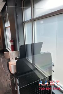 Single Work station Sneeze Guards and Clear Plexiglass Barriers