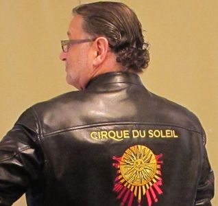 Robert Stemmons sporting his Five Year Jacket from Cirque du Soleil!