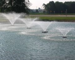 Overton Fisheries provides Kasco Aerating Fountains for Texas Lakes & Ponds