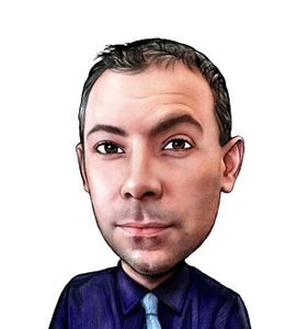 Caricature of Adam Paganetti Personal Financial Representative
