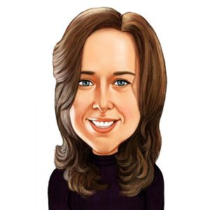 caricature of licensed sales producer Christine Kent