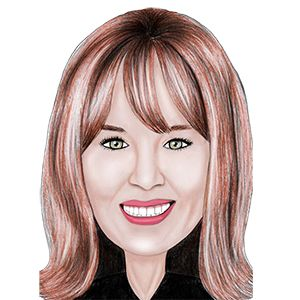 Caricature For licensed sales producer Frances Scarry