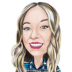 caricature of sales support and marketing Victoria Pyzynski