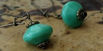 Seafoam green glass earrings are one of the exclusive artisan jewelry designs you'll find by J'tara.