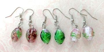 J'tara offers grab bags such as these lampwork glass earrings for multiple gift-giving needs.