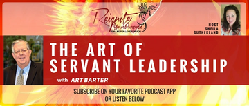 Headshot of speakers Art Barter and Sheila Sutherland with the title of the podcast