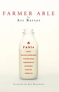 Front cover of book with an open glass milk bottle