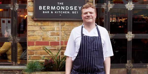 James Donnelly outside Bermondsey Bar and Kitchen