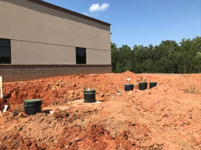 Our septic tank pumping facility in Jonesboro, GA