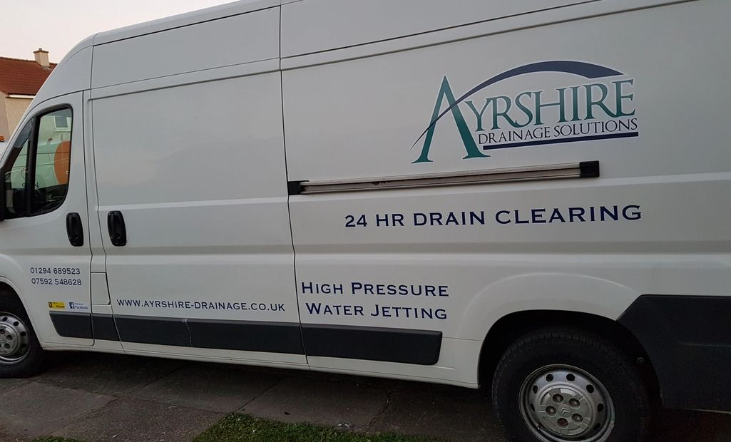 ayrshire drainage solutions  blocked drain van 1