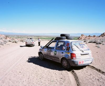 Nissan Micra in Mongolia on the 2007 Mongol Rally