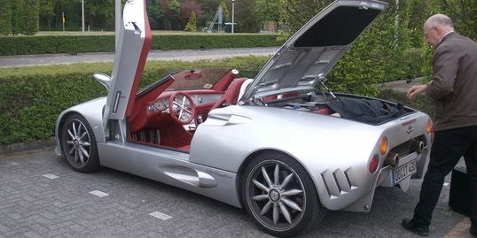 Andreas Spyker C8 spyder he drove from Switzerland to the Netherlands