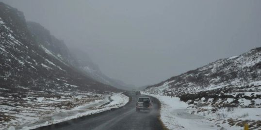 Nissan Patrol on the road in Iceland