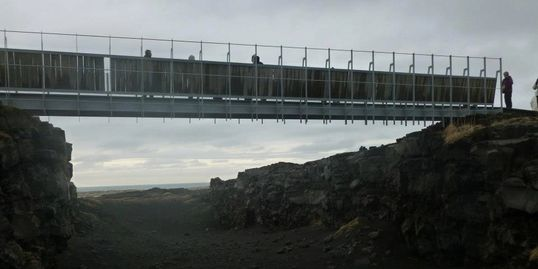 Bridge between two continents, Iceland