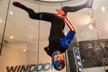 Indoor skydiving tunnel instructor Austin is now a tandem skydive instructor at SPC.