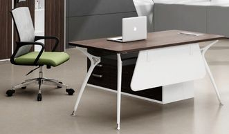 Office furniture manufacturer-office table design with white metal legs