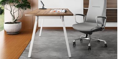 Office furniture manufacturer-office table design with elegant metal legs