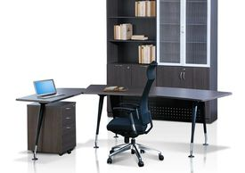 Office furniture manufacturer-office table design with back filing cabinet