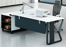 Office furniture manufacturer-office table design with metal legs in designer shape