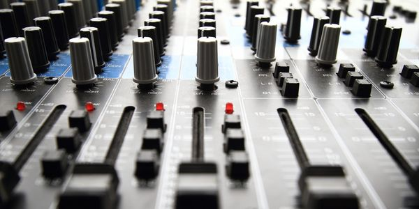 mixer for recording voiceover