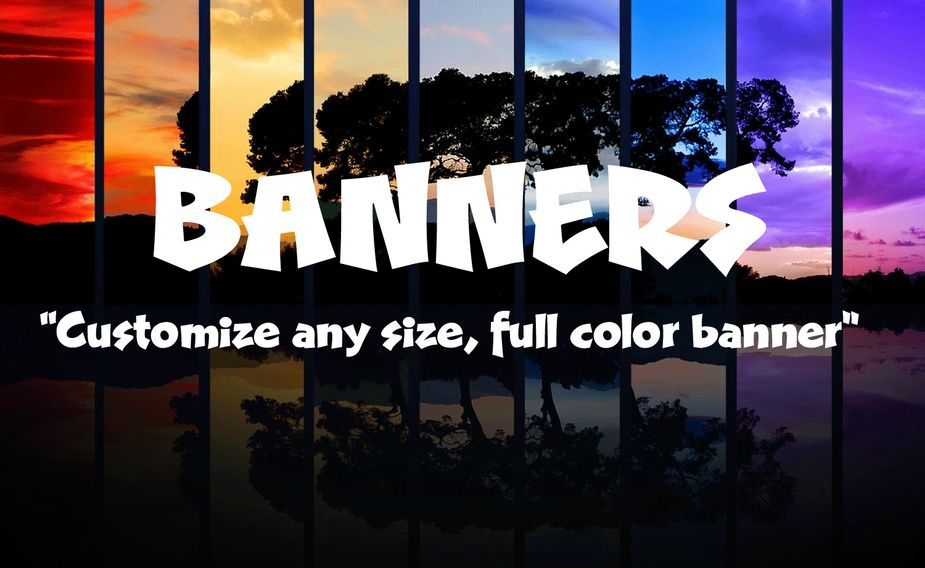 banners, custom banners, full color, signs, yard signs, freestyle apparel, design