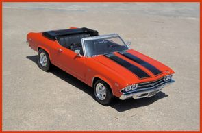 1969 Chevy Chevelle SS 396 convertible with cragar wheels! Painted Hugger orange with Black painted