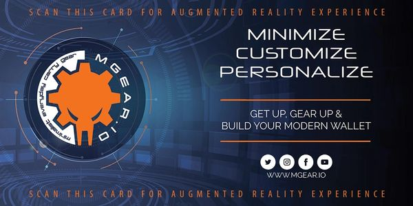 MGEAR AUGMENTED REALITY - Scan the QR code to activate the experience.