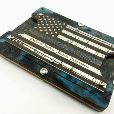 This Steel Patriot Law Enforcement wallet is great looking. I bought this to replace my four years T