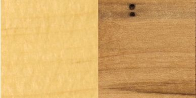 Natural/clear - pine as shown on the left and rustic maple as shown on the right.